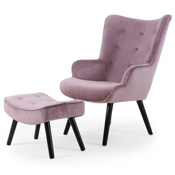 chaise style scandinave velours