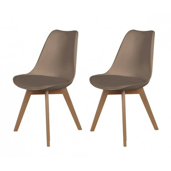 chaise scandinave fausse fourrure